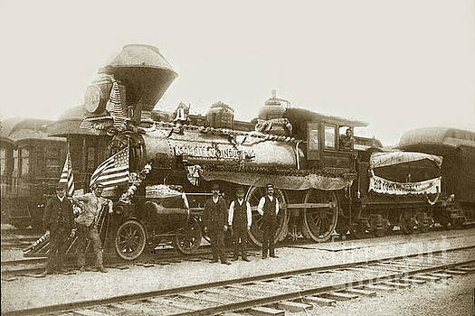 California Views Mr Pat Hathaway Archives - Southern Pacific. R/R locomotive /engine # 225 at Pacific Grove circa 1888