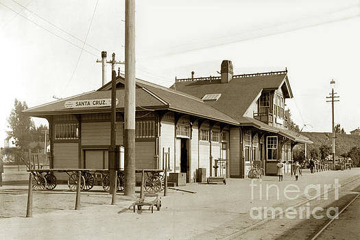 California Views Mr Pat Hathaway Archives - Southern Pacific Santa Cruz Railroasd Depot 1912