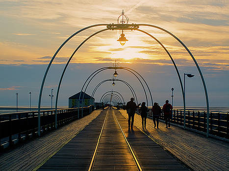 Southport pier at sunset by Susan Tinsley