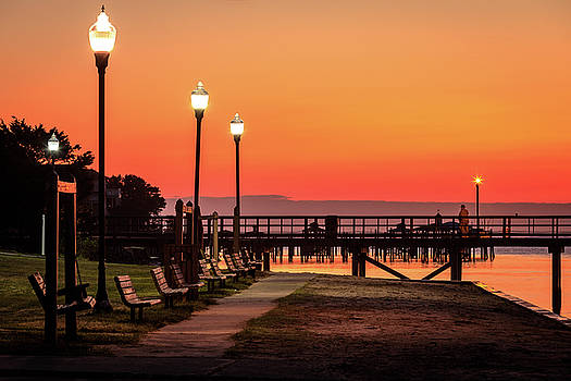 Southport Waterfront Park Sunrise by Nick Noble