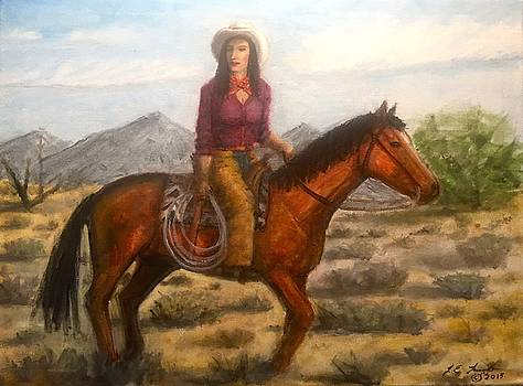 Southwest Cowgirl by Larry Lamb