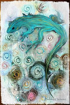 Southwest Lizard Art by Barbara Chichester