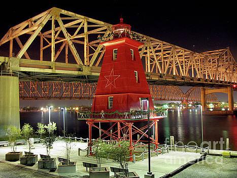 Southwest Reef Lighthouse, Berwick, Louisiana by Wernher Krutein