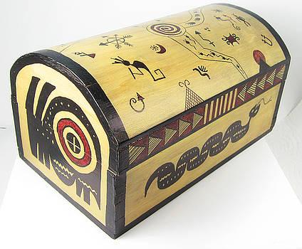 Southwest Shaman Treasure Box by Vagabond Folk Art - Virginia Vivier