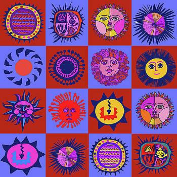Southwest Sun Folk Art by Vagabond Folk Art - Virginia Vivier