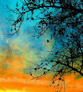 Southwest Winter Sunset Silhouette by Barbara Chichester
