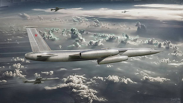 Soviet Supersonic Bomber M-50 Bounder by James Vaughan