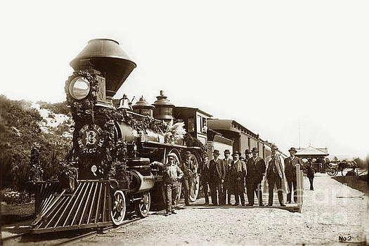 California Views Mr Pat Hathaway Archives - SP 73 4-4-0 poss with Brotherhood of Loco Engineers at Del Monte 1884