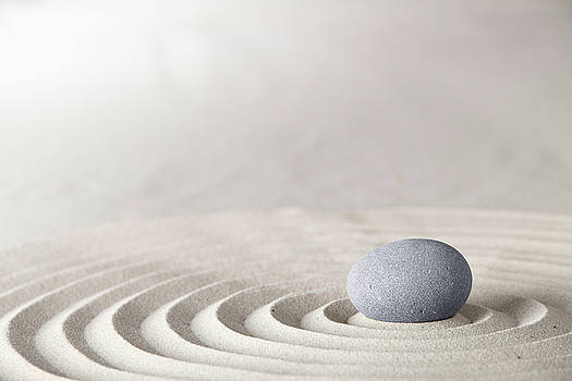 Spa Wellness Or Zen Meditation Stone by Dirk Ercken
