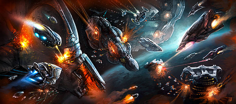 Space Battle by Odysseas Stamoglou