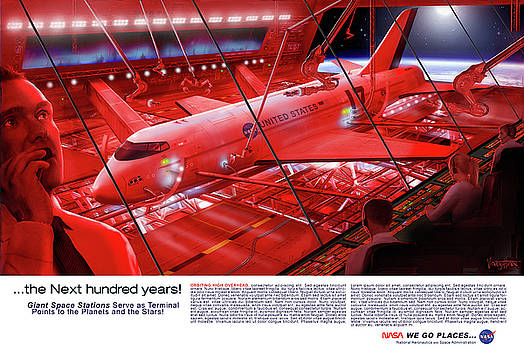 James Vaughan - Space Dock - red - text