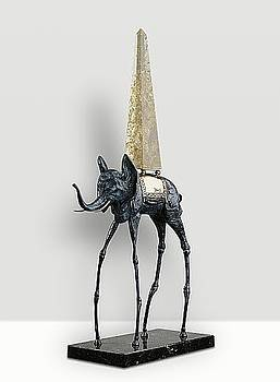 Space Elephant by Savaldor Dali