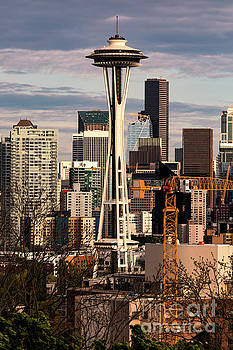 Space Needle in Seattle Washington at Sunset by Brandon Alms