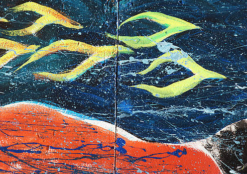 Space ships in the night by Elvira Butler