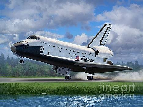 Space Shuttle Touchdown by Stu Shepherd