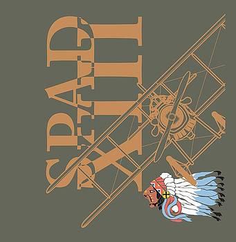 SPAD XIII Lafayette Escadrille by Ewan Tallentire