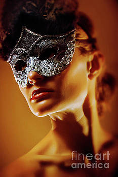 Dimitar Hristov - Spades Lady II Venetian Eye Mask