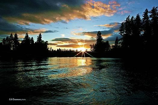 Spanaway Lake Sunset by Edward Coumou