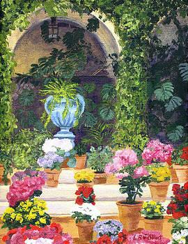 Spanish Courtyard by Lynne Reichhart