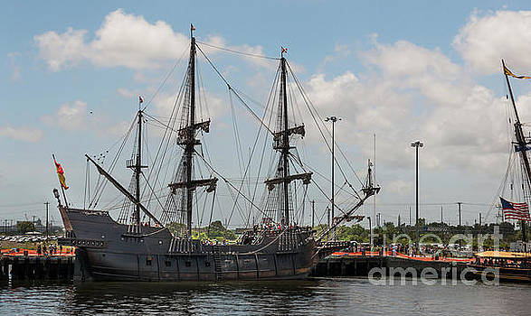 Spanish EL Galeon Tall Ship Docked in Charleston South Carolina by Dale Powell