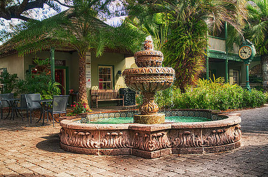 Spanish Fountain by Mick Burkey