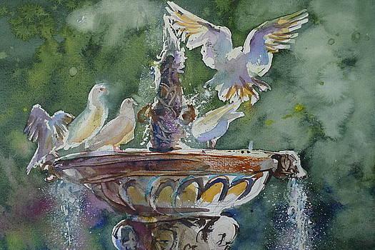 Spanish Fountain by Shirley Roma Charlton