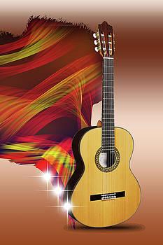 Spanish guitar by Angel Jesus De la Fuente