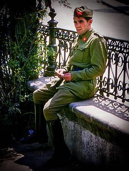 Spanish Soldier - Vigo, Spain by Samuel M Purvis III