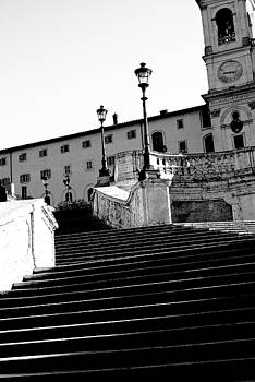 Spanish steps Rome in Black and White by Paul Jarrett