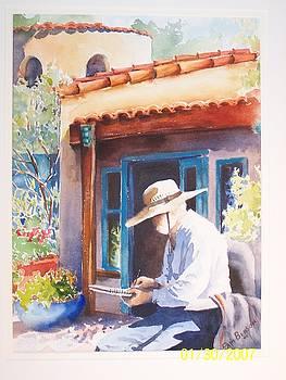 Spanish Village Painter by Pam Benson