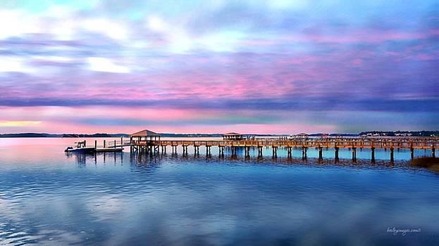 Spanish Wells Docks at Sunset by William Bosley