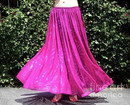 Sofia Metal Queen - Sparkling maxi skirt. Ameynra design 144