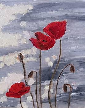 Sparkling Poppies by Karen Masters