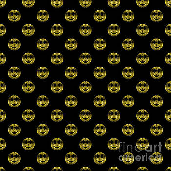 Sparkly Smiley Yellow Gold sparkles pattern black by PLdesign