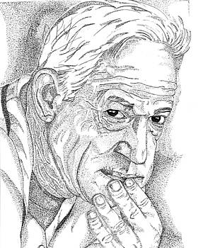 Sparky Anderson Portrait  by Marty Rice