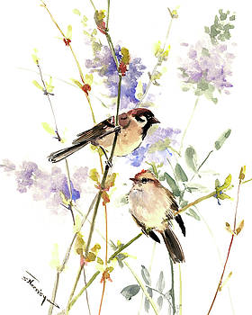Sparrows and Spring by Suren Nersisyan