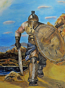 Spartan Warrior one of the three hundred by Eric Kempson