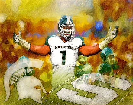Sparty We Will Rock You by John Farr