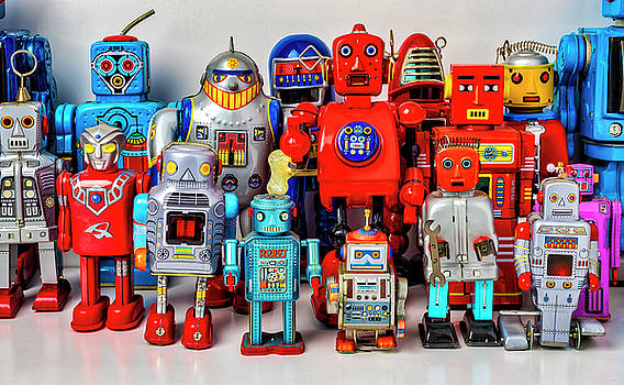 Special Tin Toy Robots by Garry Gay