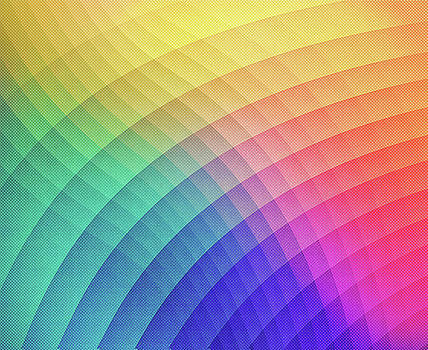 Spectrum Bomb Fruity Fresh HDR Rainbow Colorful Experimental Pattern by Philipp Rietz