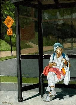 Speed Bumps Ahead -  urban painting by Linda Apple