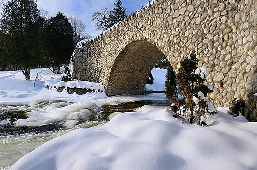 Reimar Gaertner - Spencer Creek running under a stone bridge at Webster Falls Cons