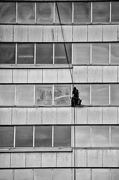 Spider Man - Window Cleaner by Bill Cannon