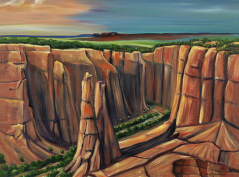 Spider Rock Canyon de Chelly AR by George Chacon