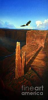 Spider Rock Canyon de Chelly by Jerry Bokowski