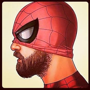 #spiderman #beard #perfil by Oscar Lopez