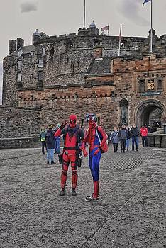 Spidey and Deadpool At Edinburgh Castle by Steffani Cameron