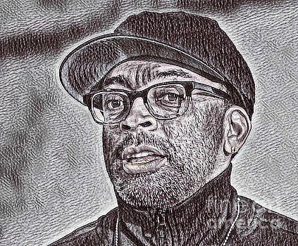 Spike Lee Portrait Drawing by Pd