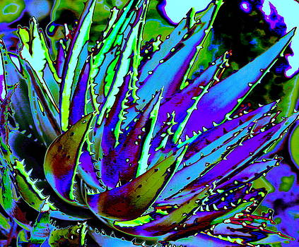 Spiked Aloe Blue by M Diane Bonaparte