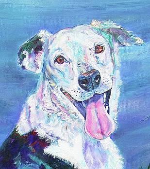 Smiling dog by Karin McCombe Jones